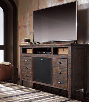 "Trudell 62"" TV Stand with Wireless Pairing Speaker, , rollover"
