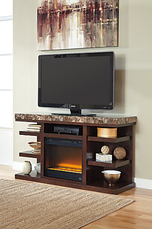 """Kraleene 60"""" TV Stand with Fireplace, , rollover"""