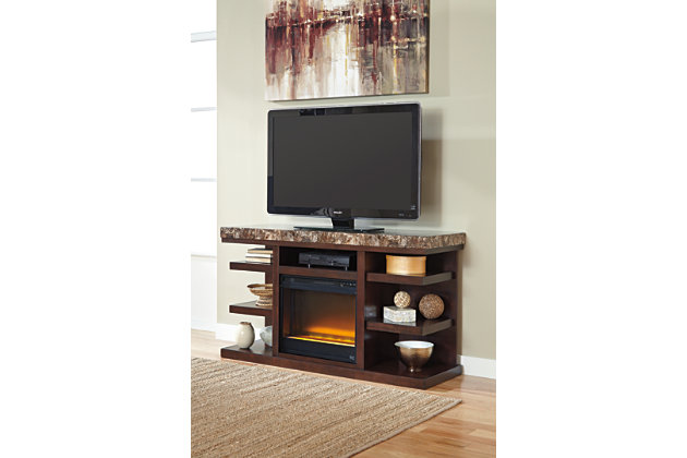 """Kraleene 60"""" TV Stand with Fireplace, , large"""
