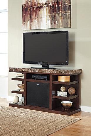 "Kraleene 60"" TV Stand with Wireless Pairing Speaker, , rollover"