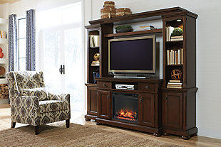 Porter 4-Piece Entertainment Center with Fireplace, , rollover