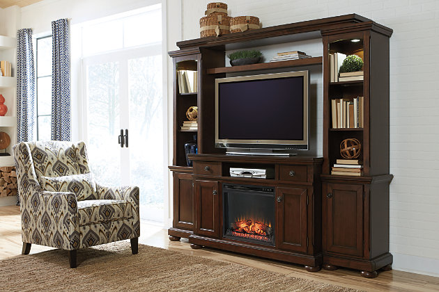 Porter 4 Piece Entertainment Center With Electric
