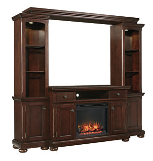 Porter 4-Piece Entertainment Center with Electric Fireplace, , large