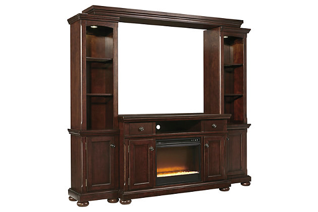 Ashley Furniture Stores >> Porter 4-Piece Entertainment Center w/Fireplace | Ashley Furniture HomeStore