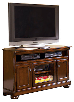 "Porter 50"" TV Stand, Rustic Brown, large"