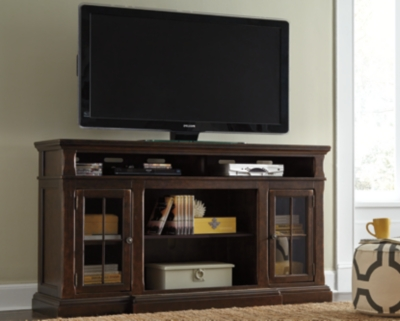 "Ashley Roddinton 72"" TV Stand, Dark Brown"