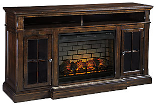 "Roddinton 74"" TV Stand with Electric Fireplace, , large"