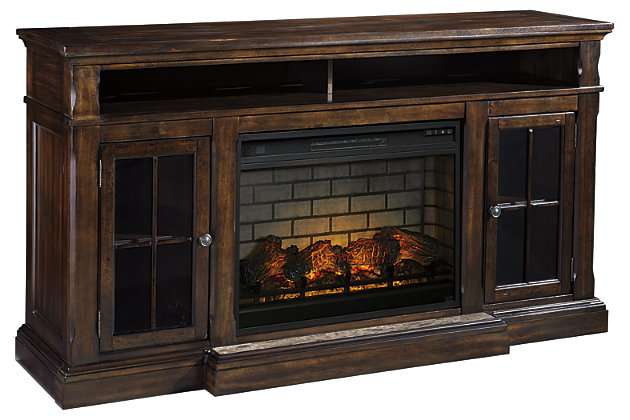 Roddinton 74 Quot Tv Stand With Electric Fireplace Ashley