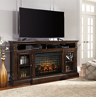 "Roddinton 74"" TV Stand with Electric Fireplace, , rollover"