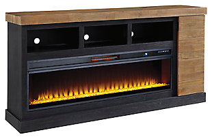 "Tonnari 74"" TV Stand with Electric Fireplace, , large"