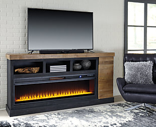 large tonnari tv stand with fireplace rollover - Tv Stands Entertainment Centers