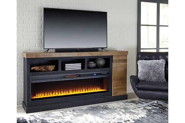 Tonnari 74 Quot Tv Stand With Electric Fireplace Ashley