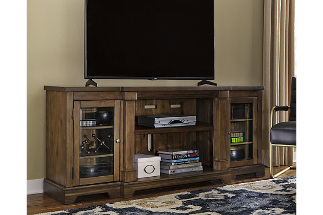 flynnter 75 tv stand ashley furniture homestore. Black Bedroom Furniture Sets. Home Design Ideas