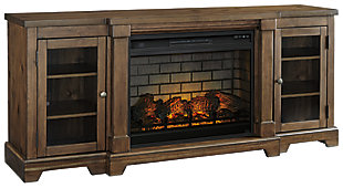 """Flynnter 75"""" TV Stand with Electric Fireplace, , large"""