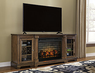 """Flynnter 75"""" TV Stand with Electric Fireplace, , rollover"""