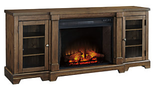 "Flynnter 75"" TV Stand with Electric Fireplace, , large"