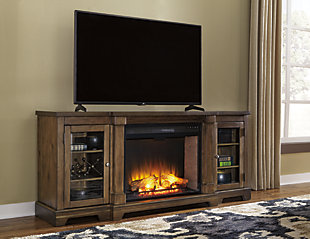"Flynnter 75"" TV Stand with Electric Fireplace, , rollover"