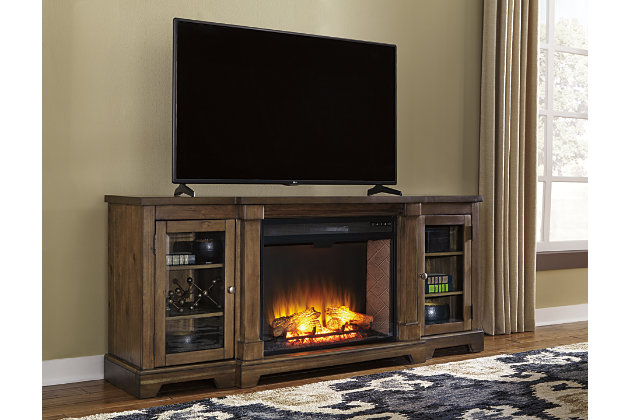 Flynnter 75 Tv Stand With Electric Fireplace Ashley Furniture