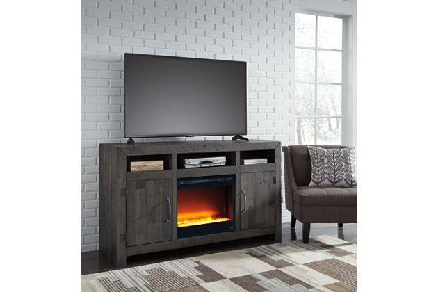Mayflyn Large TV Stand with Fireplace, , large