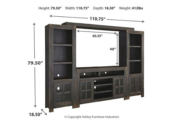 Gavelston 4-Piece Entertainment Center, , large