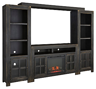 Gavelston 4 Piece Entertainment Center With Fireplace Option