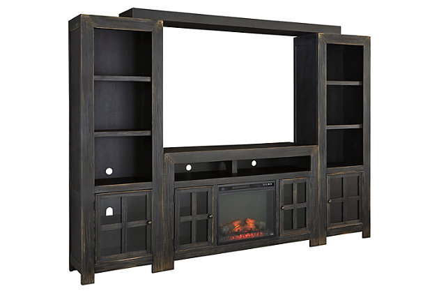 Gavelston 4-Piece Entertainment Center with Fireplace option, , large