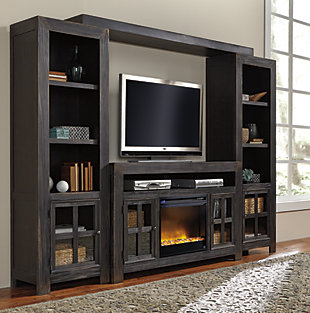Gavelston Entertainment System with Fireplace Insert, , large