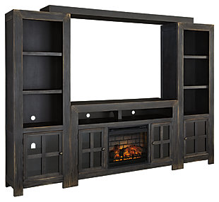 Gavelston 4-Piece Entertainment Center with Electric Fireplace, , large