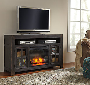 Large Gavelston 60 Tv Stand With Electric Fireplace Rollover