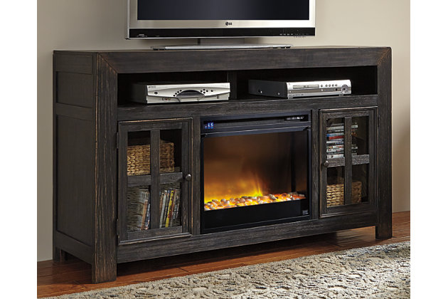 Gavelston 60 Tv Stand With Electric Fireplace Ashley Furniture