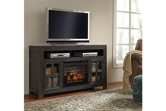 """Gavelston 60"""" TV Stand with Electric Fireplace, , large"""