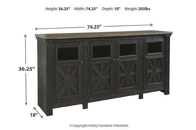 Tyler Creek 74 Quot Tv Stand Ashley Furniture Homestore
