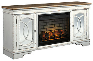 "Realyn 74"" TV Stand with Electric Fireplace, , large"
