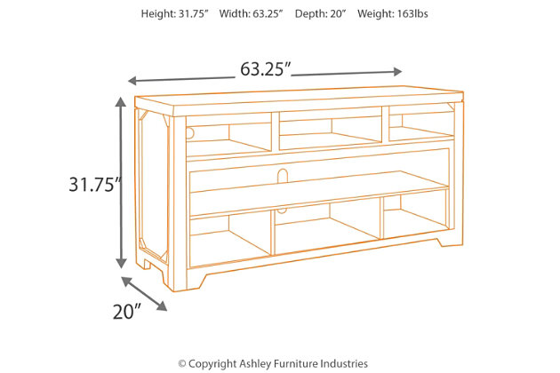 "Rogness 63"" TV Stand, , large"
