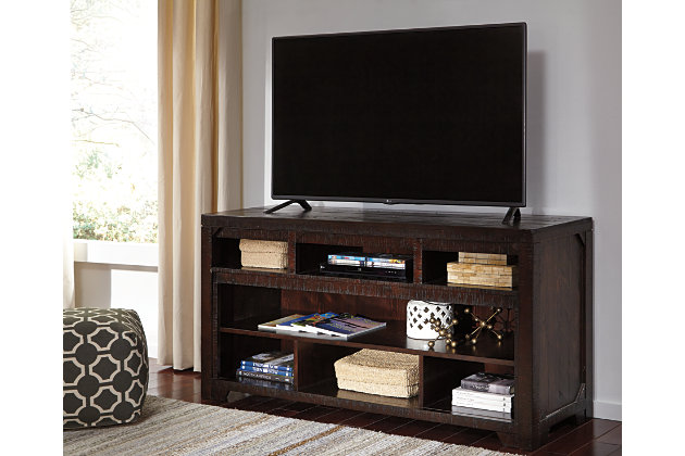 "Rogness 63"" TV Stand with Wireless Pairing Speaker, , large"