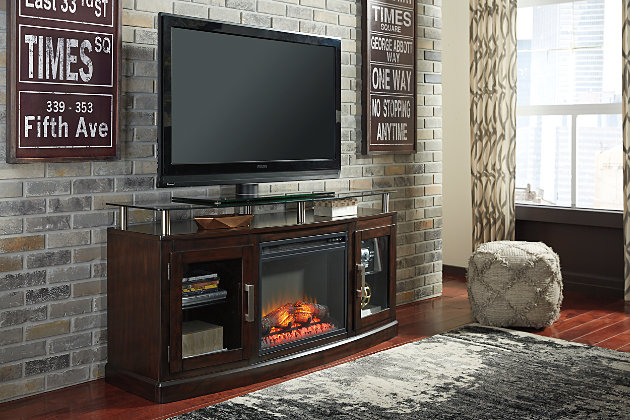Chanceen 60 Tv Stand With Electric Fireplace Ashley Furniture