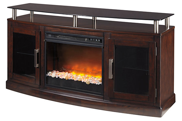 "Chanceen 60"" TV Stand with Electric Fireplace, , large"
