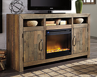 "Sommerford 62"" TV Stand with Electric Fireplace, , rollover"