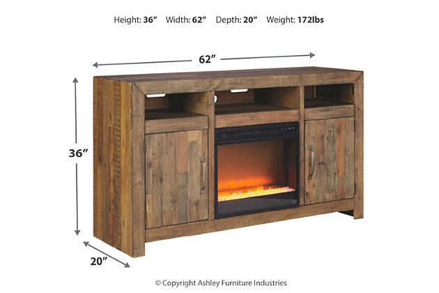 "Sommerford 62"" TV Stand with Electric Fireplace, , large"
