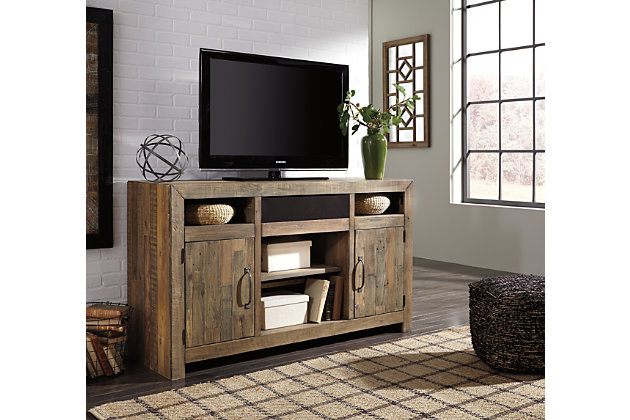 "Sommerford 62"" TV Stand with Wireless Pairing Speaker, , large"