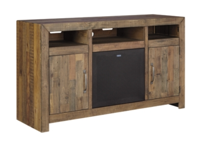 Dark Wood Tv Credenza : Dark wood entertainment center cherry centers