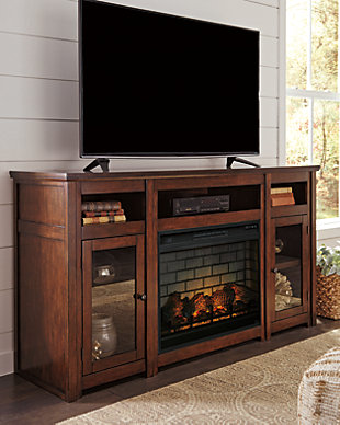 "Harpan 72"" TV Stand with Electric Fireplace, , rollover"