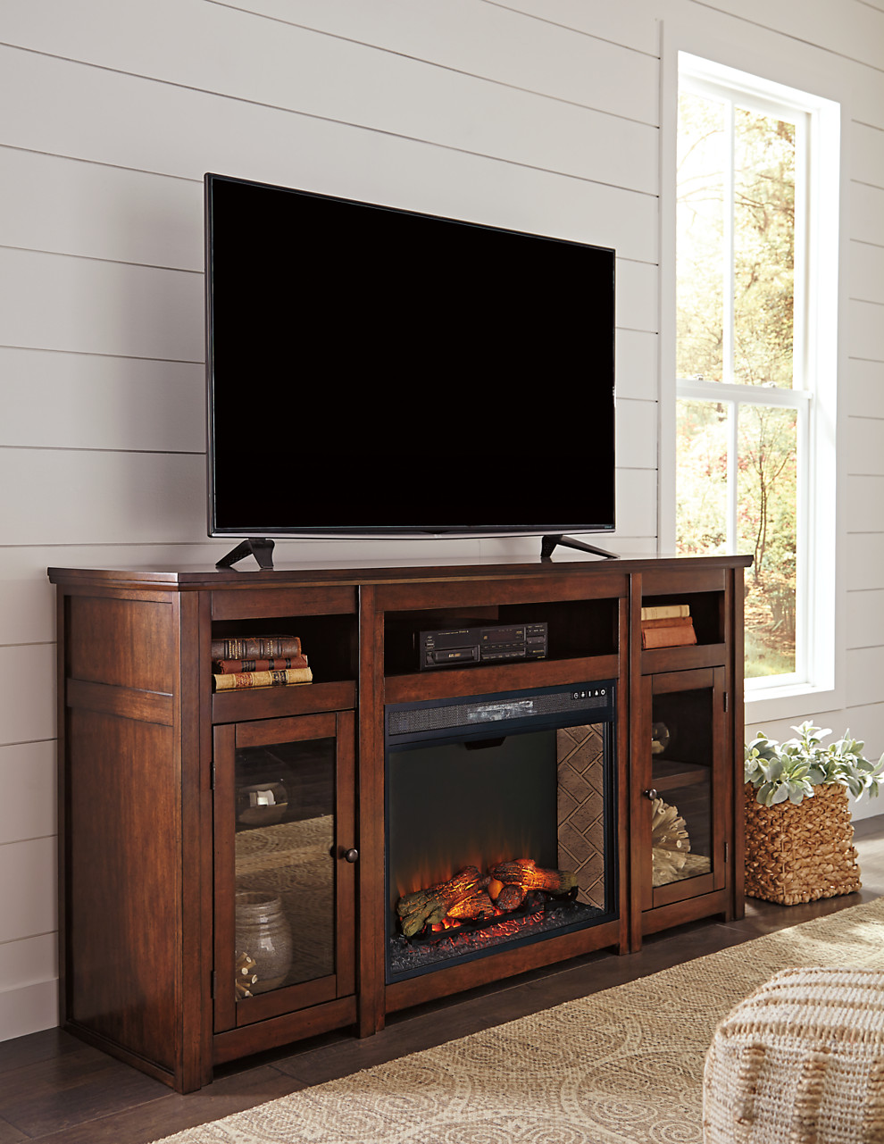 harpan xl tv stand w fireplace option corporate website of