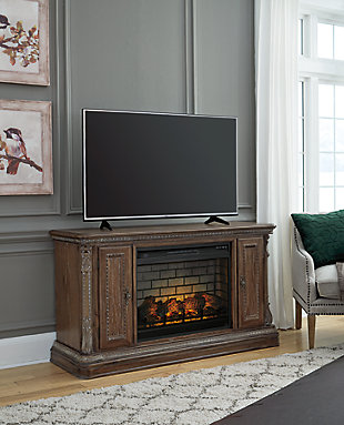"Charmond 64"" TV Stand with Electric Fireplace, , rollover"