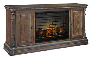 "Charmond 69"" TV Stand with Electric Fireplace, , large"