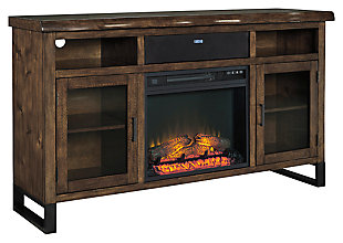"Esmarina 62"" TV Stand with Fireplace & Wireless Pairing Speaker, , large"