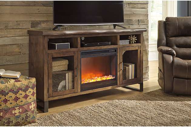 "Esmarina 62"" TV Stand with Electric Fireplace, , large"