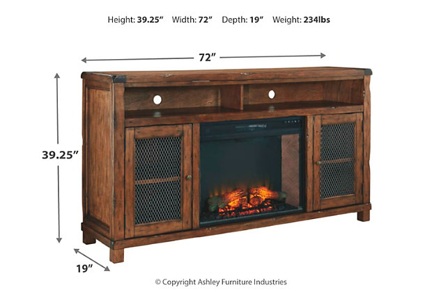 "Tamonie 72"" TV Stand with Electric Fireplace, , large"