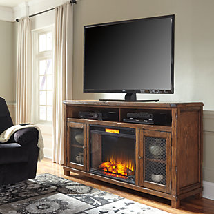 "Tamonie 72"" TV Stand with Electric Fireplace, , rollover"