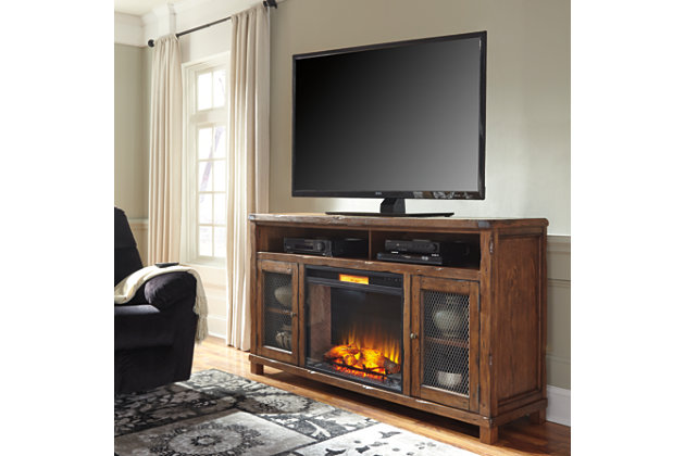 Tamonie 72 Tv Stand With Electric Fireplace